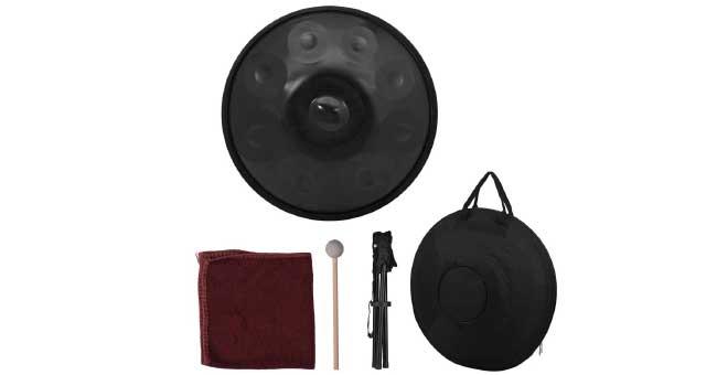 Muslady 9 Notas Mano Pan Handpan Tambor de mano Material de percusión de acero